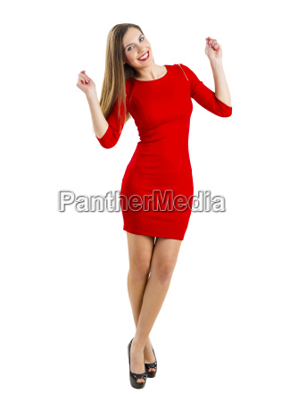 woman, in, red - 14086199