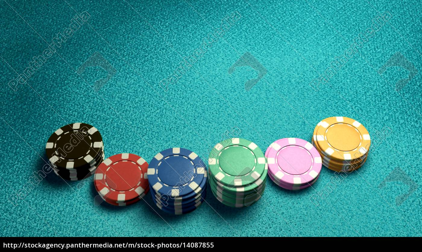 casino, chips, of, bet, blue, table - 14087855