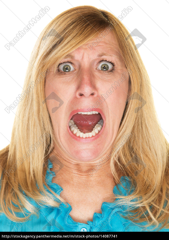 furious, woman, screaming - 14087741
