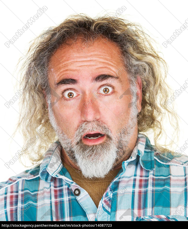 shocked, man, close, up - 14087723