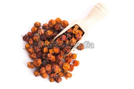 dried, rowan, berries, on, a, white - 14088469
