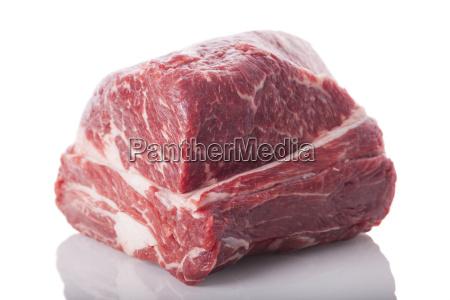 fresh beef on roast beef marbled