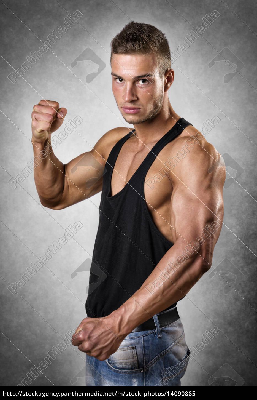 athlete, in, denim, trousers - 14090885