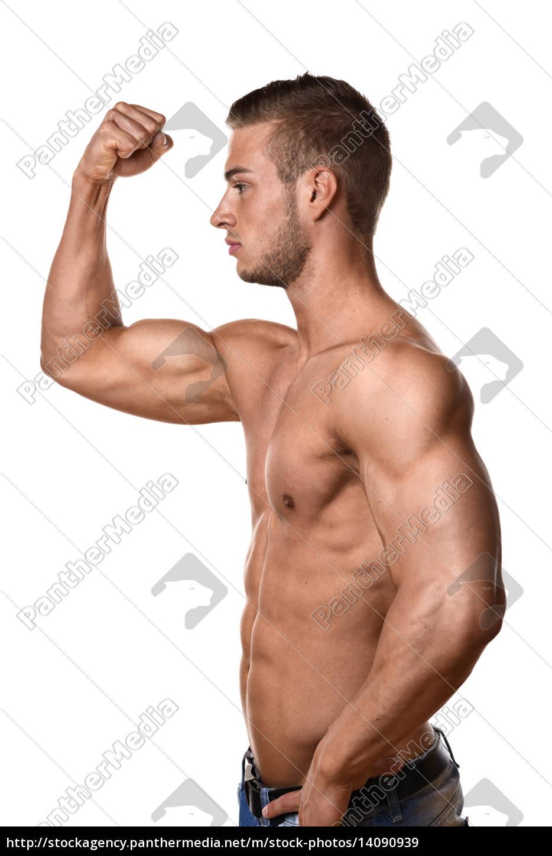 athlete, in, denim, trousers - 14090939
