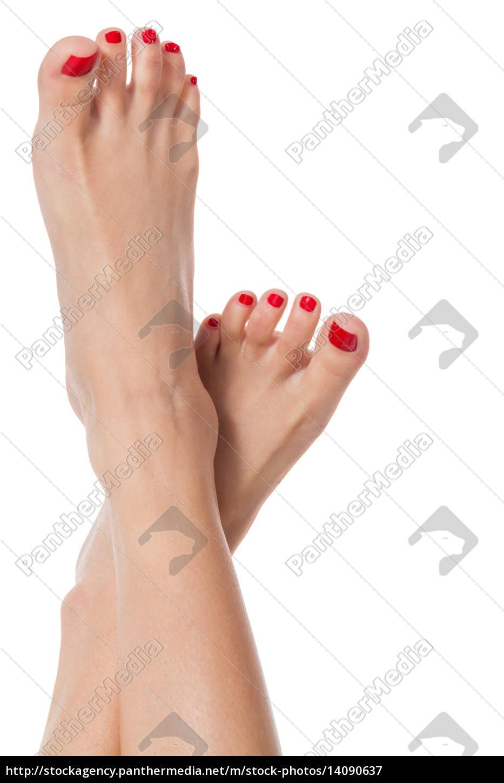 slender, sexy, female, feet, with, carefully - 14090637