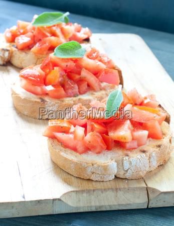 tomato, bruschetta, with, oil - 14090339