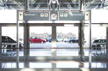 entrance airport terminal