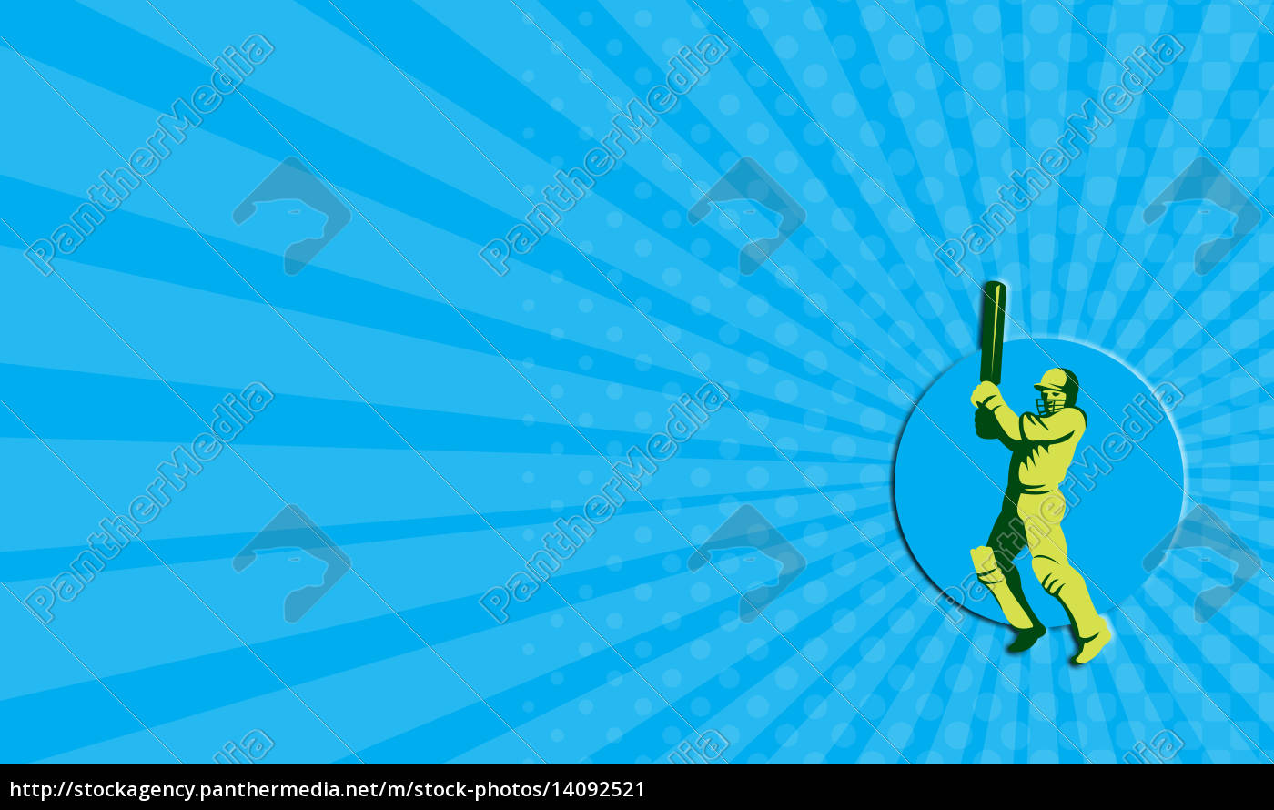 business, card, cricket, player, batsman, batting - 14092521