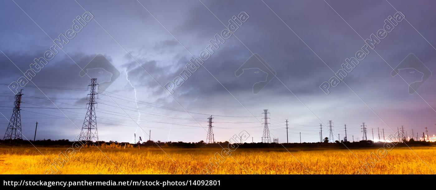 electrical, storm, thunderstorm, lightning, over, power - 14092801