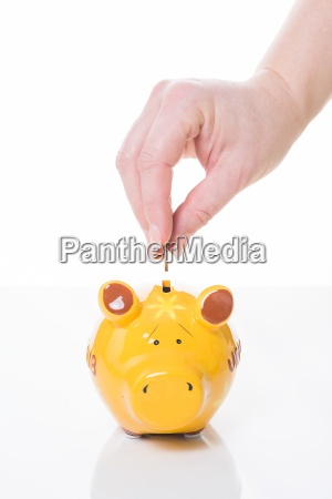 yellow, piggy, bank - 14092137
