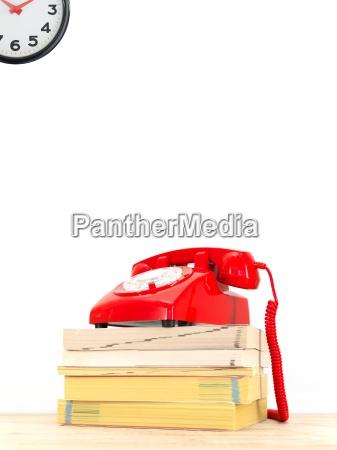 telephone, books - 14093131