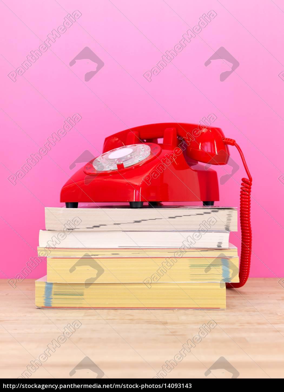 telephone, books - 14093143