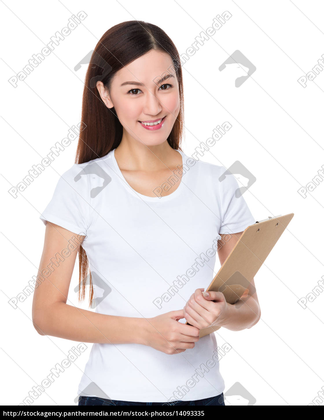 woman, with, clipboard - 14093335