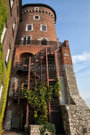 sandomierska tower at wawel castle in