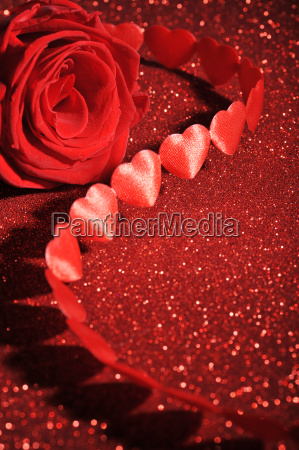 fabric, heart, with, rose - 14094261