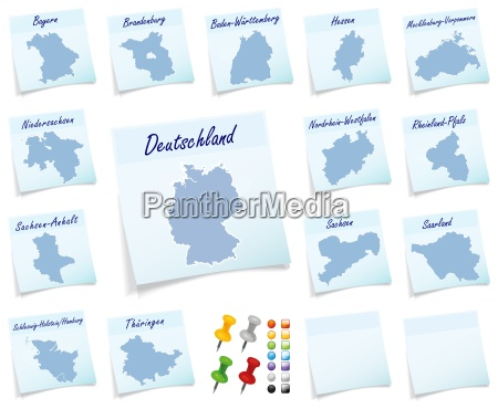 collage of germany with bundeslaender as