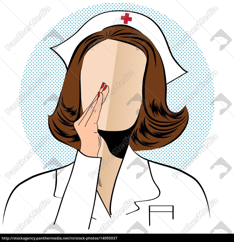 beautiful, friendly, and, confident, nurse, talk - 14095937