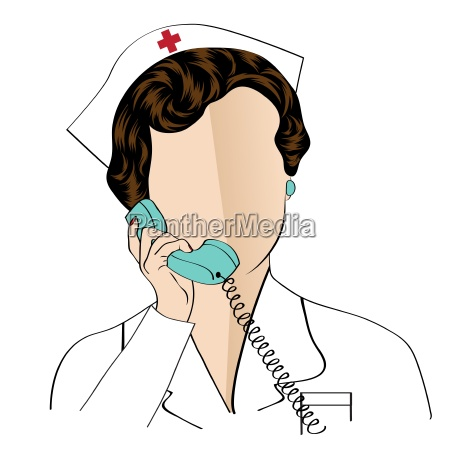 beautiful, friendly, and, confident, nurse, talking - 14095921