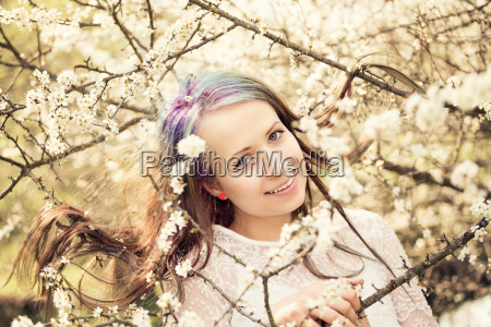 portrait, of, cheerful, fashionable, woman, in - 14095335