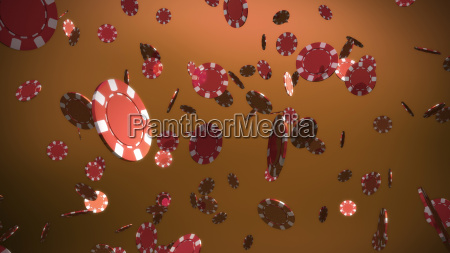 red, casino, chips, brown, background - 14096475