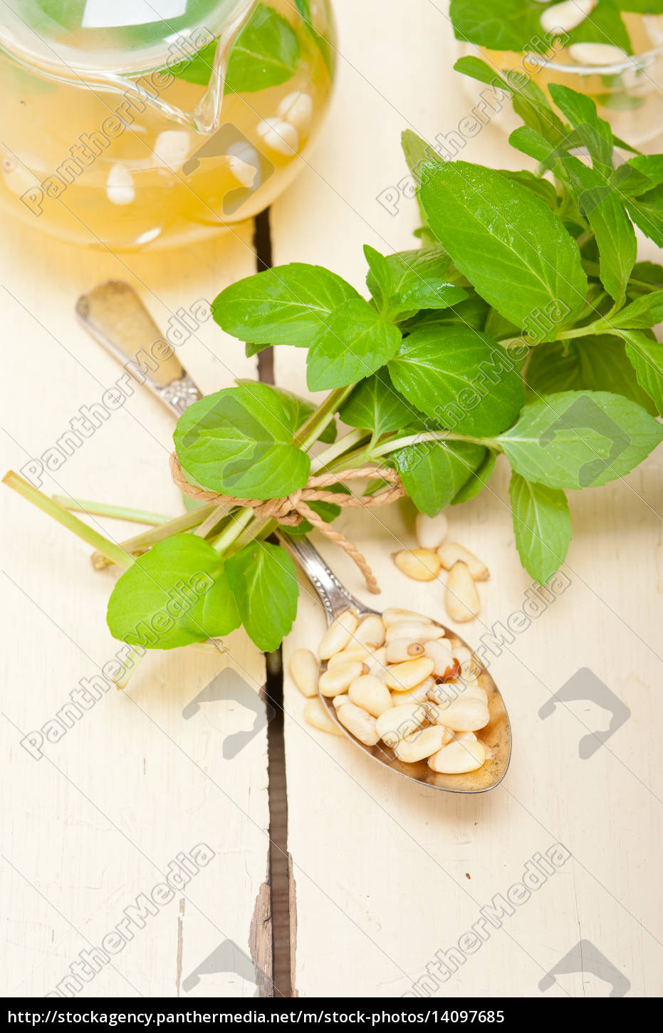 arab, traditional, mint, and, pine, nuts - 14097685
