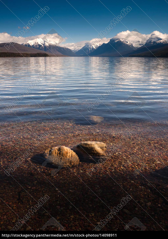 clear, water, polished, rocks, lake, mcdonald - 14098911