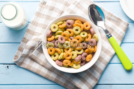 colorful, cereal, rings, in, bowl - 14098165