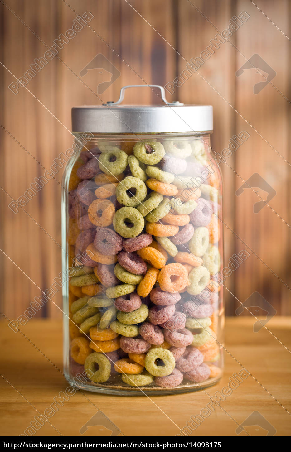 colorful, cereal, rings, in, jar - 14098175