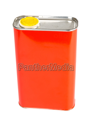 red, oil, can, isolated, on, white - 14099541