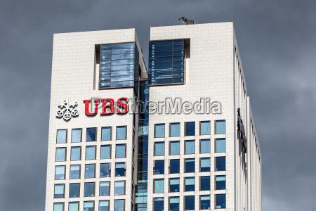 the ubs bank building in frankfurt