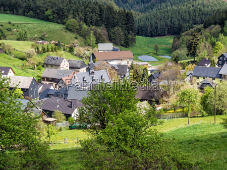 village in the thuringian forest