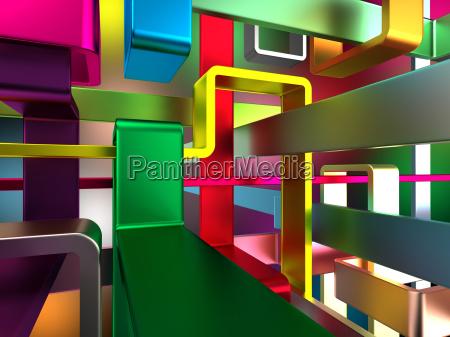 abstrakter, bunter, hintergrund, mit, tiefeneffekt, - 14100853