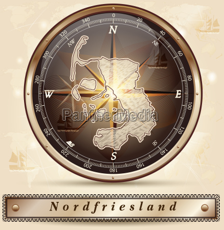 map of north friesland