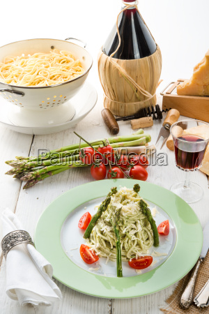 pasta, with, asparagus - 14101575