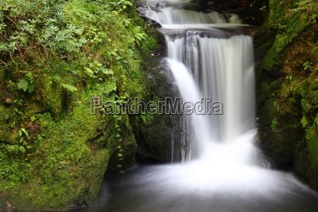 waterfall in the forest taken in
