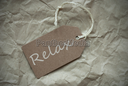 beige, label, with, relax, paper, background - 14103531