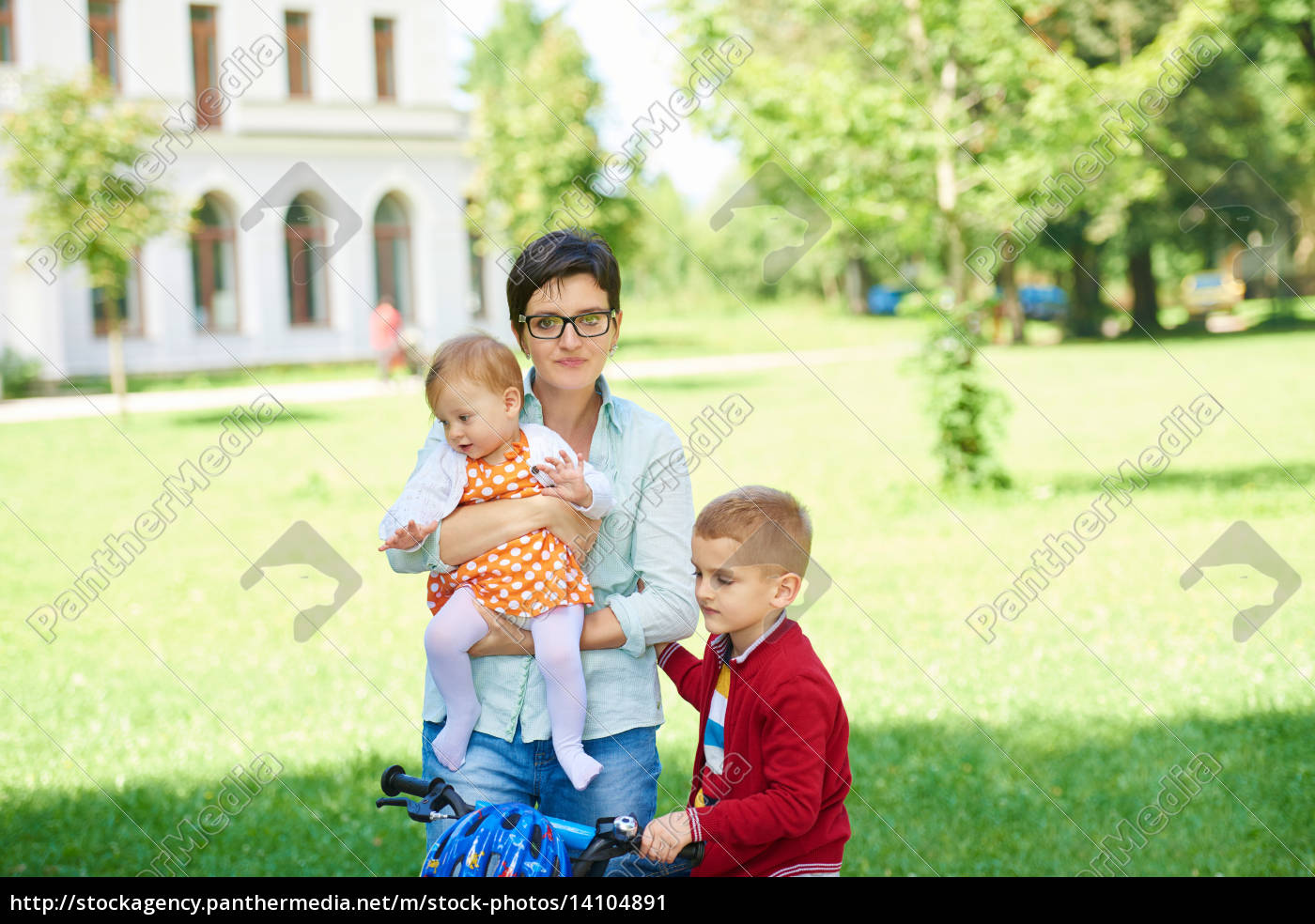happy, young, family, in, park - 14104891