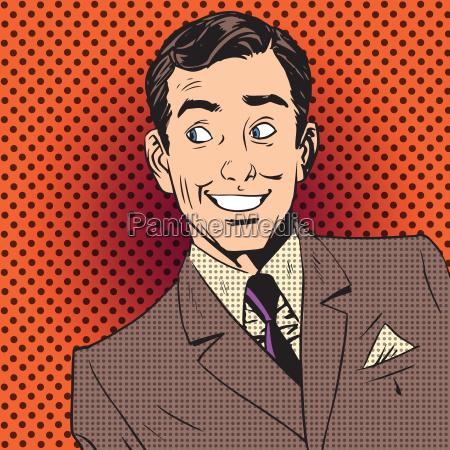 happy man smiling businessman entertainer artist
