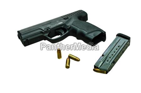 gun with magazine and ammo