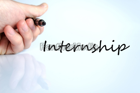 pen in the hand internship concept