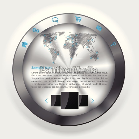 metallic knob website template design
