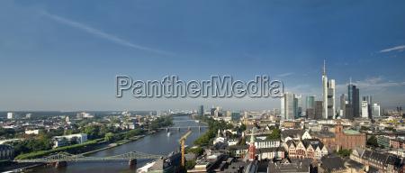 panorama of frankfurt
