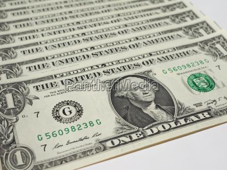 billetes de dolar 1 dolar