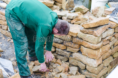 drywall stone wall