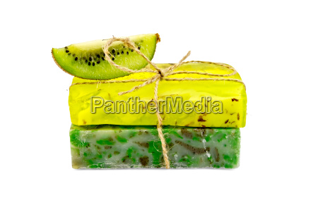 soap homemade with a slice of