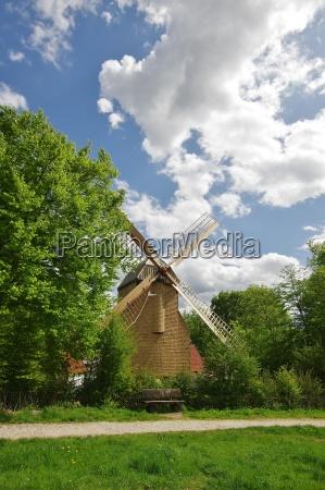 windmill in bauernhausmuseum bielefeld after