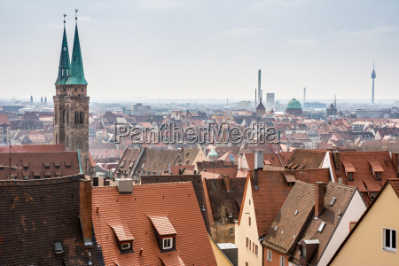 view over nuremberg city