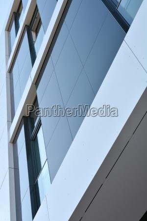 modern facade in the centre of