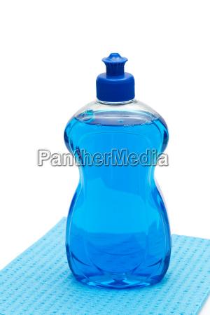 blue dishwashing