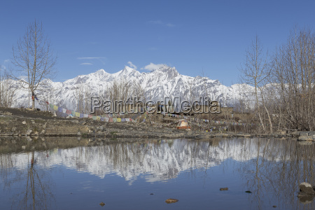 local houses at muktinath village in